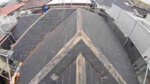 スレートの屋根