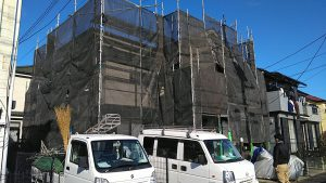 屋根カバー工法、外壁塗装工事。